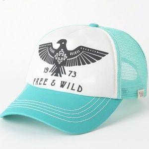 BillBong Wild & Free Hat! aqua color